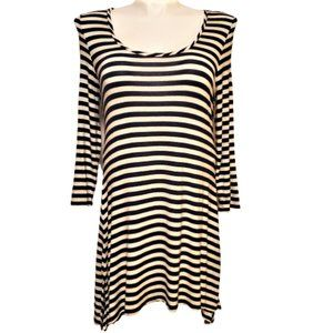 Soft Surroundings Striped Scoop Neck Tunic Top M